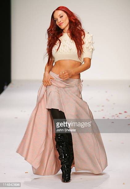 Carmit Bachar during Johnnie Walker Presents 'Dressed to Kilt' Runway Show at Smashbox Studios in Los Angeles California United States