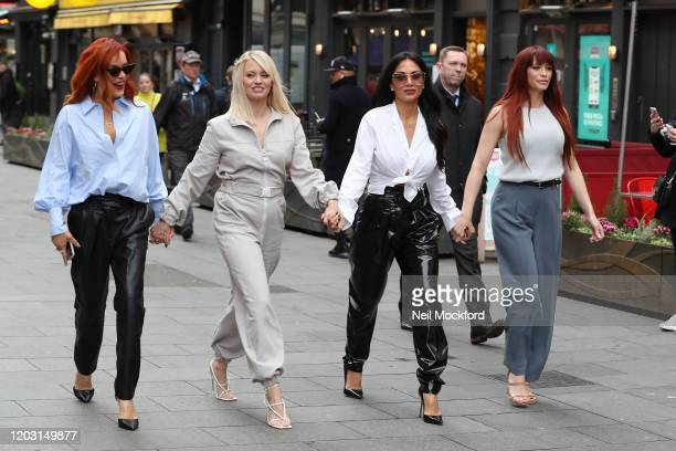 Carmit Bachar, Kimberly Wyatt, Nicole Scherzinger and Jessica Sutta from the Pussycat Dolls seen at Global Radio Studios for an interview on Heart...
