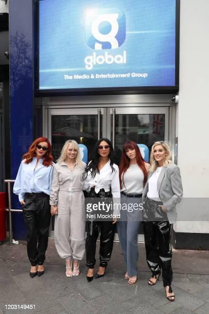 Carmit Bachar, Kimberly Wyatt, Nicole Scherzinger, Jessica Sutta and Ashley Roberts from the Pussycat Dolls seen at Global Radio Studios for an...