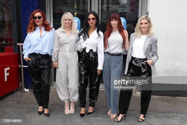 Carmit Bachar Kimberly Wyatt Nicole Scherzinger Jessica Sutta and Ashley Roberts from the Pussycat Dolls seen at Global Radio Studios for an...