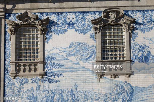 carmo church - traditionally portuguese stock pictures, royalty-free photos & images