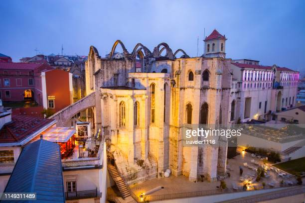 Carmo Convent At Night In Lisbon, Portugal