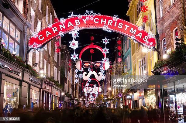 Carnaby Street, Christmas shopping, London
