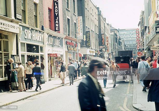 Carnaby Street, London. Fashion mecca in the 60s. 1960s