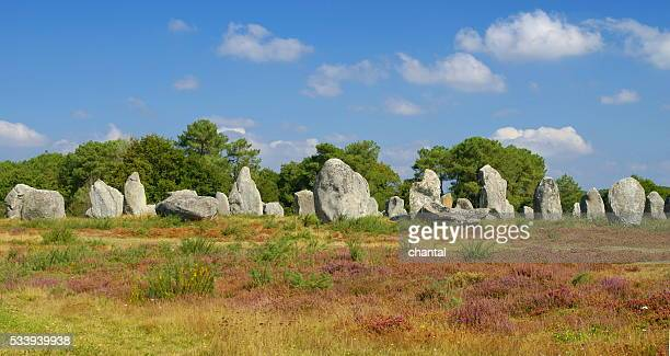 Carnac megaliths alignment in Brittany, France