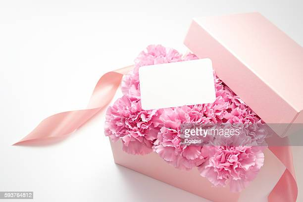 Carnation Flowers in Box