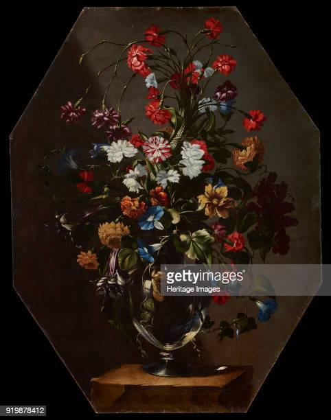 Carnations dahlias and hyacinths in a vase c 1670 Private CollectionFine Art Images/Heritage Images/Getty Images