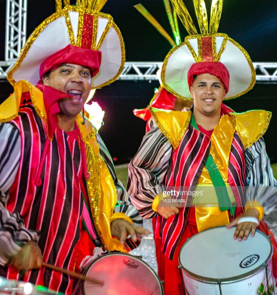 Carnaval Brazil Bateria Da Escola De Samba Surdo And Repique