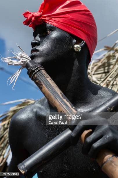 carnaval dominicano - dominican ethnicity stock photos and pictures