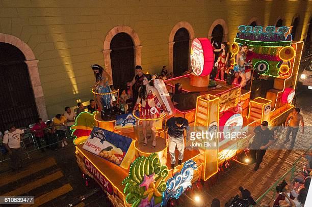 Carnaval parade floats in Merida, Mexico