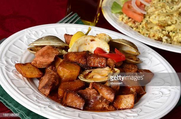 carne de porco a alentejana - portuguese culture stock pictures, royalty-free photos & images