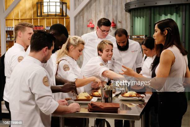TOP CHEF 'Carne' Episode 1607 Pictured Brandon Rosen Eddie Konrad Eric Adjepong Kelsey Barnard Adrienne Wright Brian Young Justin Sutherland Michelle...