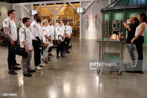 TOP CHEF 'Carne' Episode 1607 Pictured Brian Young Eddie Konrad Eric Adjepong Kelsey Barnard David Viana Adrienne Wright Justin Sutherland Michelle...