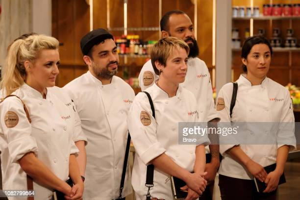 TOP CHEF 'Carne' Episode 1607 Pictured Kelsey Barnard David Viana Adrienne Wright Justin Sutherland Michelle Minori