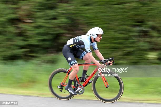 Carne Groube of Palmerston North competes in the individual time trials at Winton during stage 6 of the 2017 Tour of Southland on November 4 2017 in...