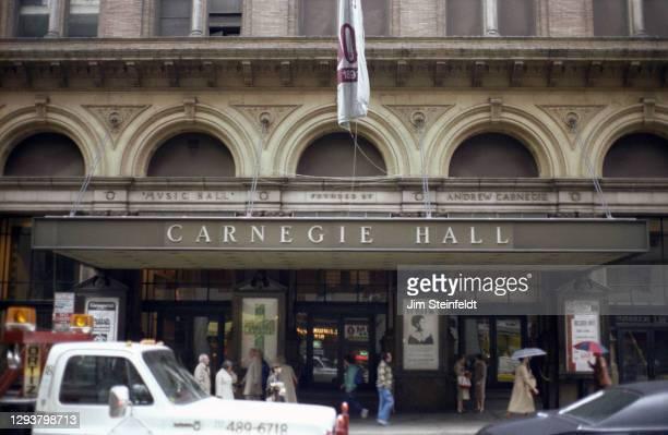 Carnegie Hall in New York City, New York on October 20, 1981.