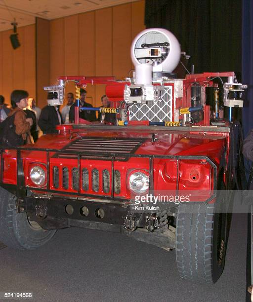Carnegie Mellon University's Red Team vehicle designed to compete in the DARPA Grand Challenge is unveiled at the Intel Developer Conference in San...