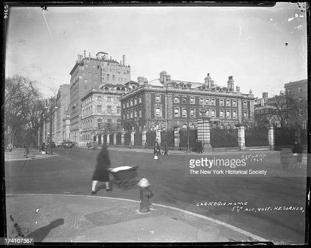 Carnegie residence on Fifth Avenue and 90th Street, later the Cooper-Hewitt Museum, New York, New York, 1929.