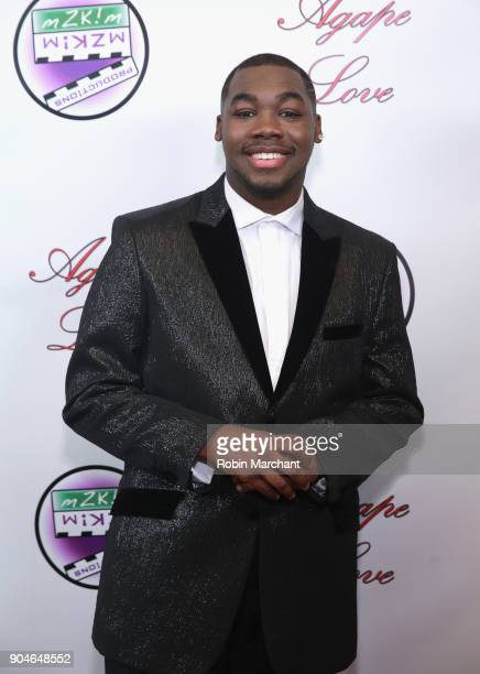 Carnelious Gil attends Agape Love Red Carpet on January 13 2018 in Milwaukee Wisconsin