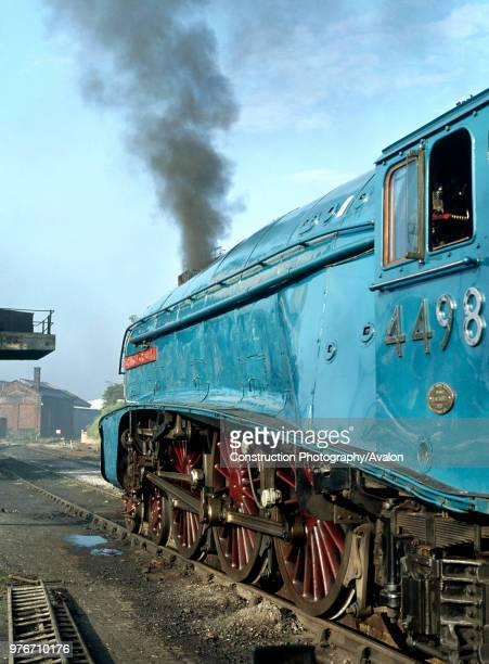 Carnforth Yard 4498 Sir Nigel Gresley brews up ready for Cumbrian Coast Express