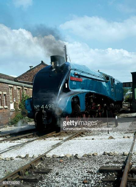 Carnforth Yard 4498 Sir Nigel Gresley heads down to the turn table prior to working the Cumbrian Coast Express
