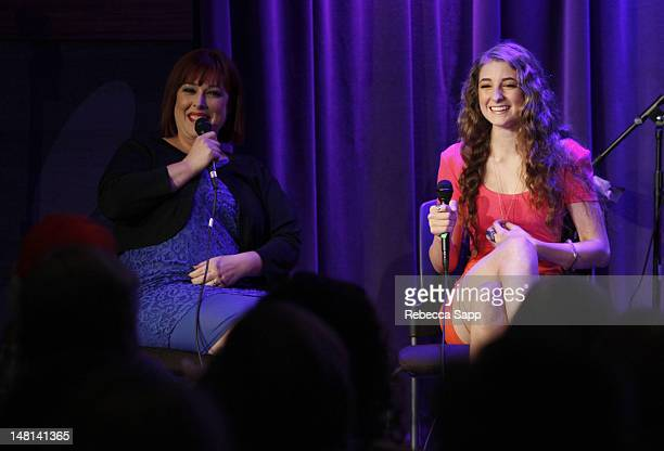 Carnie Wilson and Ambha Love of California Saga speak onstage at An Evening With California Saga at The GRAMMY Museum on July 10 2012 in Los Angeles...