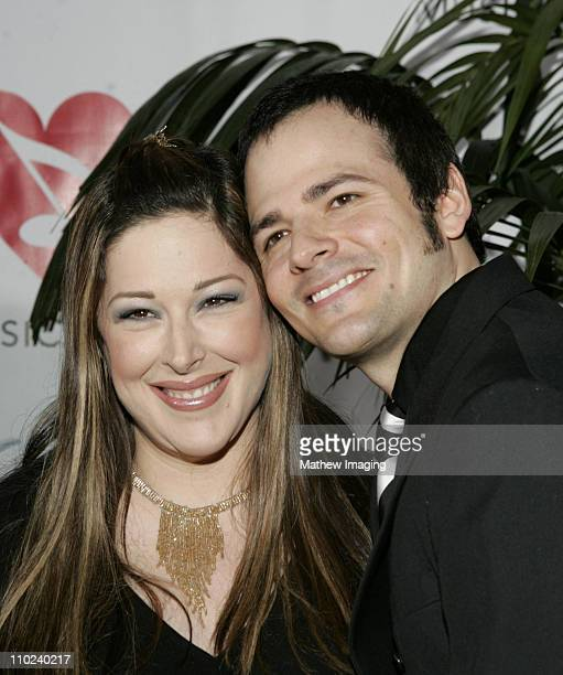 Carnie Wilson and husband Rob Bonfiglio during 2005 MusiCares Person of the Year Brian Wilson Arrivals at Palladium in Hollywood California United...