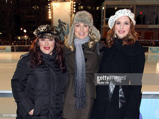 Carnie Wilson Chynna Phillips and Wendy Wilson attend the 2010 holiday tree lighting ceremony at Bryant Park on December 2 2010 in New York City