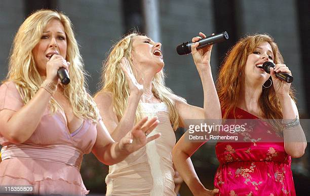 Carnie Wilson Chynna Phillips and Wendy Wilson during Good Morning America 2004 Concert Series Wilson Phillips at Bryant Park in New York City New...