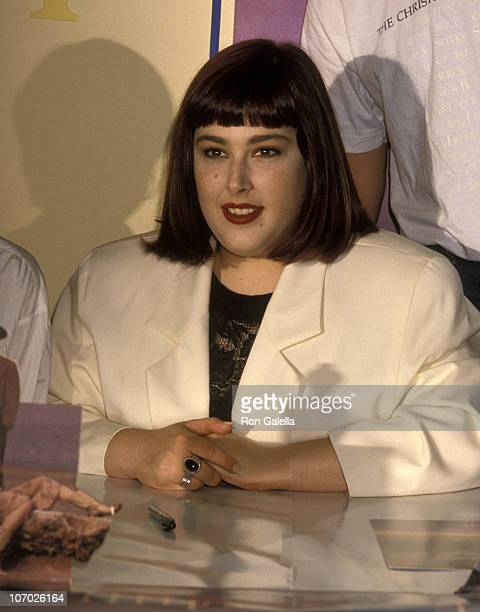Carnie Wilson during Wilson Phillips Signs their New Album Wilson Phillips at Tower Records in Hollywood July 9 1990 at Tower Records in Hollywood...