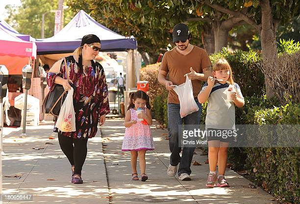 Carnie Wilson is seen with daughter Luciana Bellla Bonfiglio husband Rob Bonfiglio and daughter Lola Sofia Bonfiglio on September 15 2013 in Los...