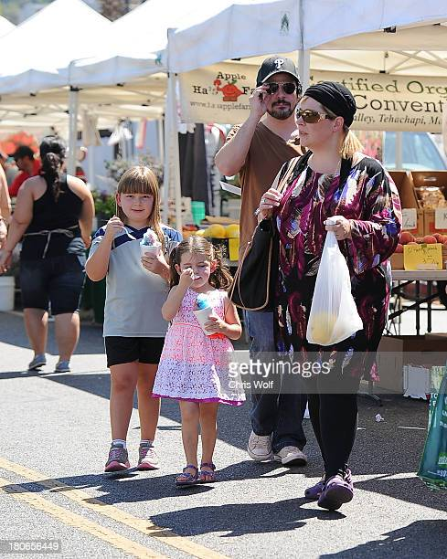 Carnie Wilson is seen with daughters Lola Sofia Bonfiglio and Luciana Bella Bonfiglio and husband Rob Bonfiglio on September 15 2013 in Los Angeles...