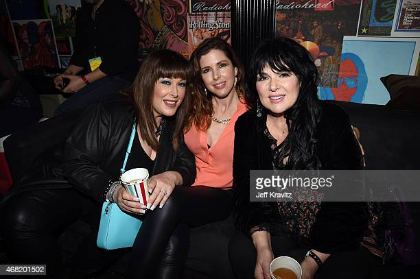 Carnie Wilson Wendy Wilson and Ann Wilson backstage at Brian Fest A Night To Celebrate The Music Of Brian Wilson at The Fonda Theatre on March 30...