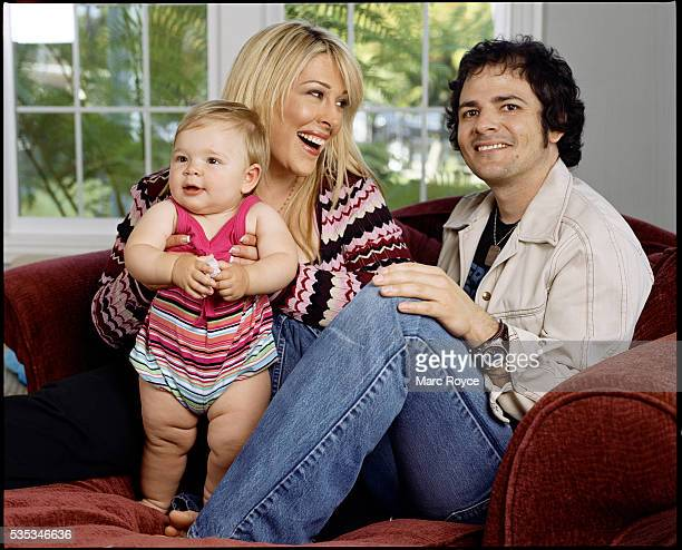 Carnie Wilson with husband Rob Bonfiglio and daughter Lola