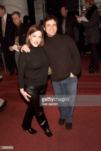 Carnie Wilson with husband Rob Bonfiglio attend the 'Looking For An Echo' premiere at the Crown Gotham Theater in New York City 11/9/2000