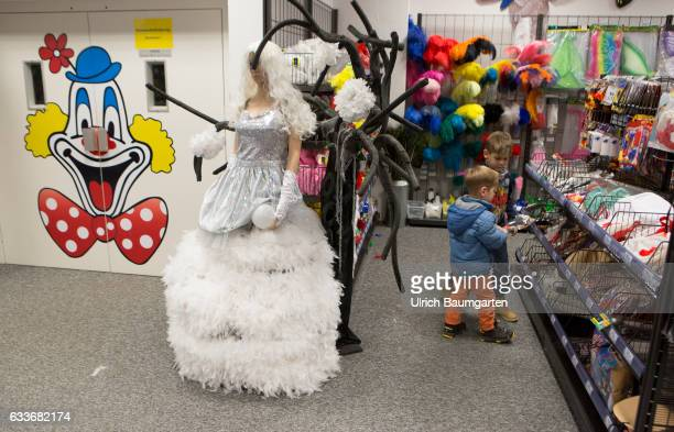 Carnival 2017 For everyone the right carnival disguise Scene with wedding dress in a department store for carnival items