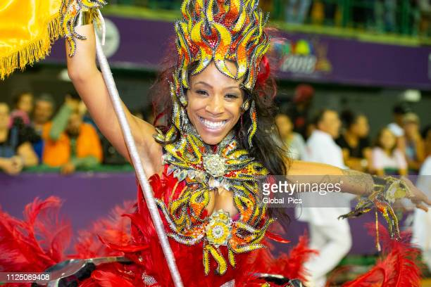 carnaval 2018 - brazil - flag bearer stock pictures, royalty-free photos & images