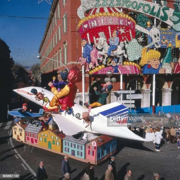 Carnival at Nice France 1980s