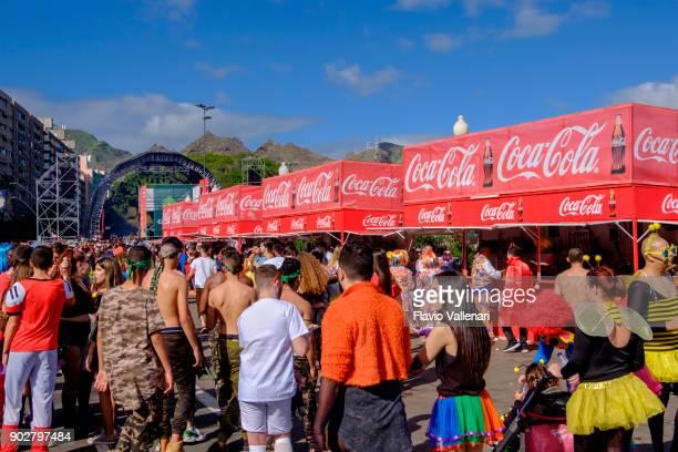 carnival at santa cruz de tenerife, canary islands - spain - sponsorship stock pictures, royalty-free photos & images