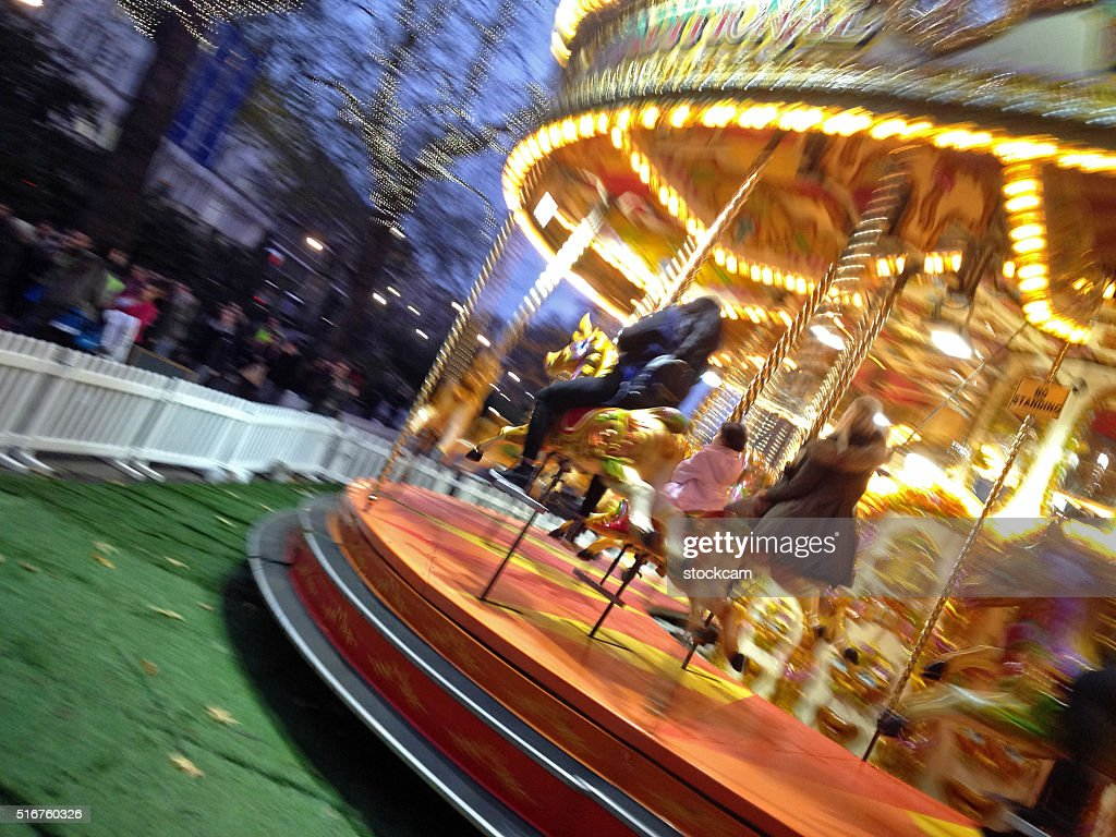 carnival carousel merrygoround motion blur stock photo getty images