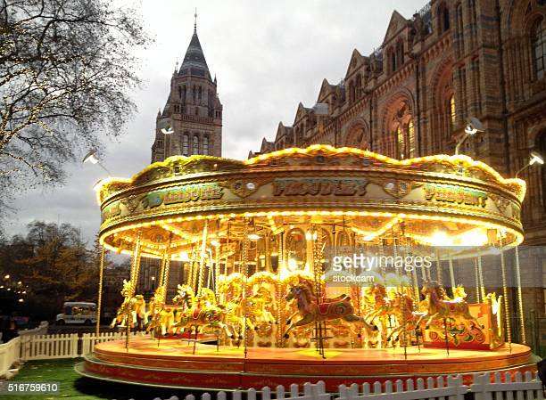 Carnival Carousel Merry-Go-Round outside of National History Museum London
