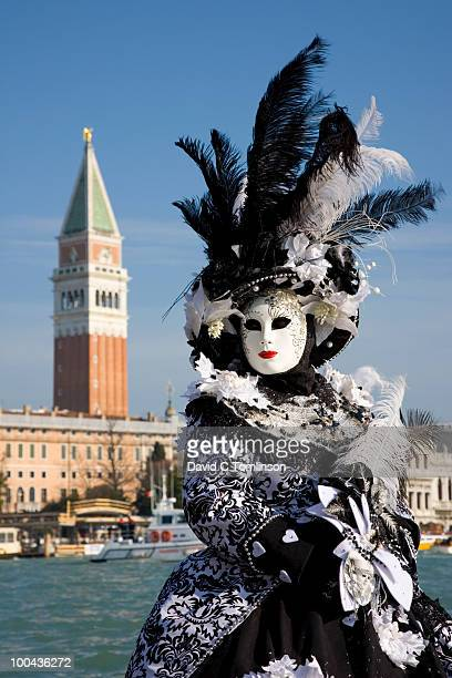 Carnival character in costume, Venice, Italy
