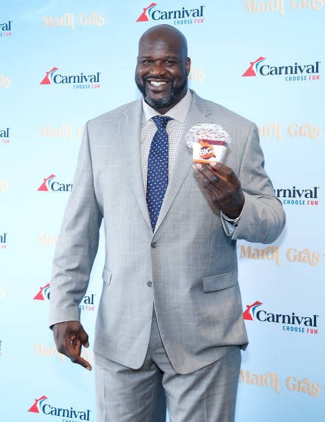 "NY: Carnival Cruise Line & Shaquille O'Neal Host Deck Party On Carnival's Newest Ship ""Mardi Gras"""
