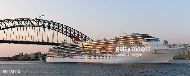 Carnival Cruise Line's Carnival Spirit leaves Sydney Harbour on November 06 2013 in Sydney Australia