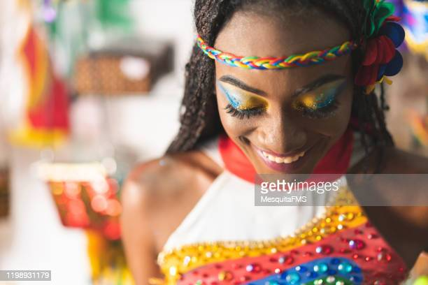 carnival dancer portrait - brazilian carnival stock pictures, royalty-free photos & images