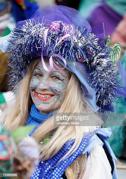 A carnival enthusiast participates at the 'Rose Monday' parade February 19 2007 in Cologne Germany Hundreds of thousands people flood the streets of...