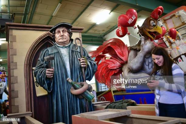 A carnival float featuring the reformist theologian Martin Luther and the 500th anniversary of the Reformation pictured at the MCV carnival...