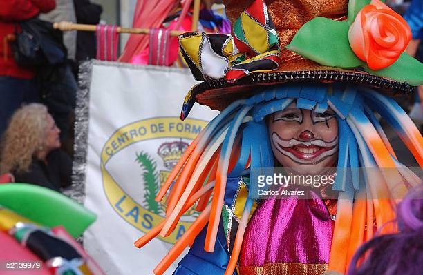 Carnival goers in costume participate in the Gran Canaria Carnival Parade on February 5, 2005 in Gran Canaria, Spain. Several hundred thousand people...