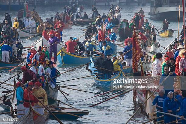 carnival, grand canal, venice, veneto, italy, europe - gondola traditional boat stock pictures, royalty-free photos & images
