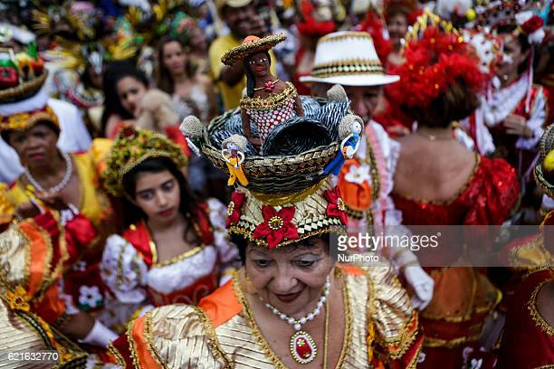 Carnival groups begins rehearsing for the Carnival 2017 in Recife northeastern Brazil on November 6 2016 The frevo and maracatu groups gather on the...